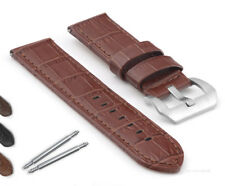 Panerai Replacement Watch Strap Genuine Calf Leather 22mm & 24mm Black Or Brown