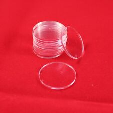 ROUND (CIRCLE) TRANSPARENT / CLEAR BASES for Roleplay Miniatures (20mm)