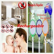 Rechargeable LED Electric Bug Fly Mosquito Killer Swatter Zapper Racket JR