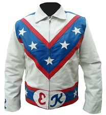 Men Motorbike White Leather Jacket Movie Jacket Biker Leather Jacket