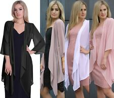 Long Summer Cardigan Jacket Chiffon Holiday Beach Party Cover Up Open Front