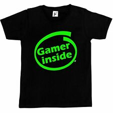 Gamer Inside Gaming Video Game Fan Addict Kids Boys / Girls T-Shirt
