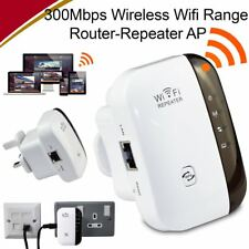 2.4GHz Wireless 300Mbps N 802.11 AP Wifi Range Router Repeater Extender Booster