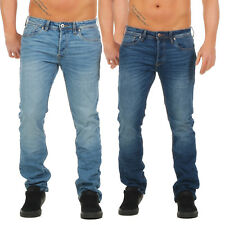 Jack y Jones Vaqueros Azul Oscuro Claro Clark Regular 5 Bolsillos Denim