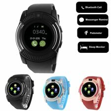 Smart V8 Bluetooth Waist Watch Sport Fitness Tracker For Android GSM SIM IOS DT