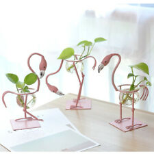 Flamingo Stand Plant Flower Vase Hydroponic Container Home Garden Decor