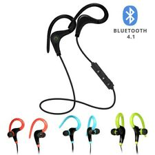 Black Sports Headset Wireless Bluetooth 4.1 Stereo Headphone Earphone with Mic