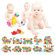 26 Letter Baby Kids Wooden Animal Puzzle Toy Children Education Learning ToolsAf