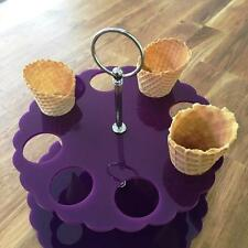 CONO DE HELADO Soporte - LILA, sizes for 4 , 8 OR 12 Cones