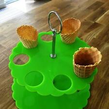 CONO DE HELADO Soporte - verde lima, sizes for 4 , 8 OR 12 Cones
