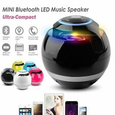 Round Ball Wireless Bluetooth Mini Speaker with Colorful LED lights Loudspeak@YT