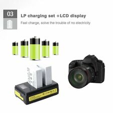 2PCS Camera Battery Pack+Charger+LCD Display USB Cable Suitable for Canon EOS@YT
