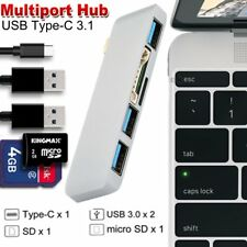 5in1 USB3.0 Hub Type-C Adapter Charging Data Sync Card Reader for MacBook ProLYW