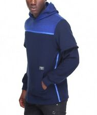Mens Crooks and Castles Hammer Knit Pullover Hoodie - Navy - WAS £69.99