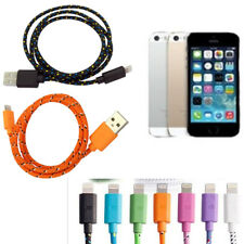 1*USB Data Sync Charger Cable BRAIDED For iPhone SE 5 5s 6 7 plu US
