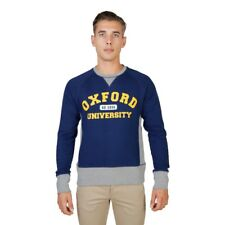 Felpa Uomo Maglia Manica Lunga Fashion Blu Oxford University 74093 Regular BDX