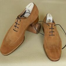 Handmade Oxford Suede Leather Shoes, Men Suede Leather Shoes Dress Suede Shoes