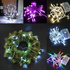 80 LED Wire Battery Operated Fairy String Lights Wedding Party Decor Warm White