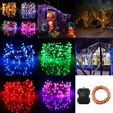 20 LED Battery Operated Timer Fairy String Wire Copper Light Party Wedding Decor
