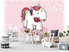 Wall Mural Photo Wallpaper Picture EASY-INSTALL Fleece Unicorn Kids Room Murals