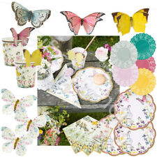 UK SELLER Fairy Birthday Vintage Party Tableware  Plates Napkins Cups Decoration