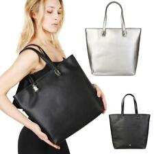 CAVALLI CLASS Borsa a spalla donna shopping bag shopper grande nero argento DD