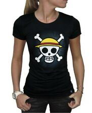 ONE PIECE - Women's Girlie T-Shirt: Skull with Map Strohhut Frauen Damen NEU