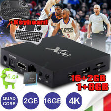 X96 1GB/2GB+8GB/16GB Android 6.0 S905X 4K*2K 3D Smart TV Box Quad Core+Tastiera