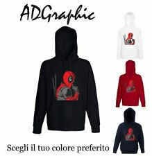 felpa cappuccio sweatshirt  hooded sudadera shhh deadpool dead pool