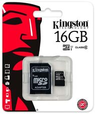 Micro SD 16 GB 16 GB 16 GB 16 GB 16  Scheda Memoria CLASS 10 4 Kingston MicroSD