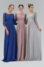 Mother of the Bride Groom Wedding Party Dress Ball Plus size evening Lace Gowns