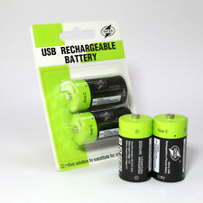2Pcs 1.5V 3000mAh Rechargeable Battery by Micro USB Batteria C Size Ultra