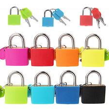 New Small Mini Strong Steel Padlock Travel Tiny Suitcase Lock with 2 Keys Best