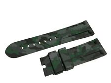 Green Silicone/Rubber Strap/Band Buckle/Clasp for Officine Panerai Watch 24mm