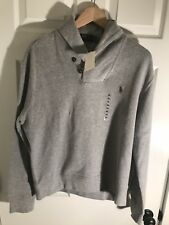 NEW POLO RALPH LAUREN MENS COTTON SHAWL COLLAR PULLOVER SWEATER Black Gray $90