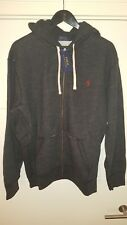 Men's Polo Ralph Lauren Zip Hoodie - Black Marl - X-Large *BRAND NEW WITH TAGS*