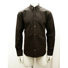 Mens Burberry Prorsum Collection Brown Button Up Shirt Size 41 BNWT RRP £99