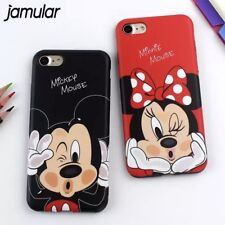 Minnie Mouse Mickey Mouse iPhone 6 6s Case Cover Matte Red Black Disney Cartoon
