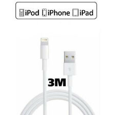 CABLE DEL CARGADOR 3 METROS IPHONE X 8 8 PLUS 7 6 6S PLUS SE 5S 5C