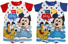 Boys Playsuit Baby Disney Romper Mickey Mouse & Pluto Let's Play 6 to 24 Months