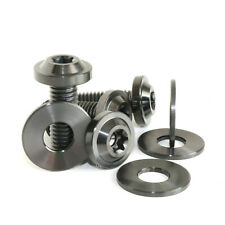 M8 x 25mm Bolts Titanium Low Profile Flange Scew + Washer T40 Torx High Strength