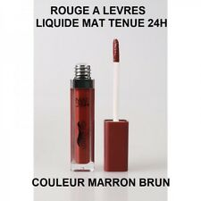 ROUGE A LEVRE LIQUIDE MAT TENUE 24H MAQUILLAGE LEVRES LIP MARRON BRUN MAC158