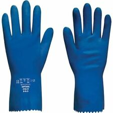 12 X Pairs Polyco Optima Latex Gauntlets Cotton Flock Lining Chemical Resistant