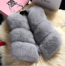Womens Trendy Outwear Gilet New Fur Jacket Warm Fox Waistcoat Vest Faux Thicken