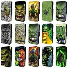 THE INCREDIBLE HULK MARVEL FLIP PHONE CASE for SAMSUNG GALAXY S5 S6 S7 S8 S9