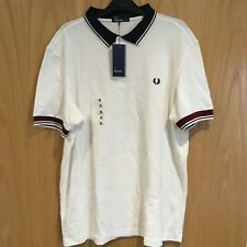 BRAND NEW FRED PERRY SHORT SLEEVE POLO SHIRT WHITE SIZES SMALL, XL, XXL