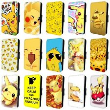 POKEMON PIKACHU PICACHU FLIP PHONE CASE COVER for SAMSUNG GALAXY S5 S6 S7 S8 S9