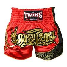 Muay Thai Twins Special Muay Thai Boxen Rot Gold Shorts