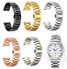 Stainless Steel Replacement Watch Bands with Straight & Curved End 5 Colours