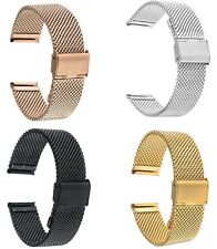 18mm Milanese Stainless Steel Replacement Watch Band Strap Smartwatch Strap
